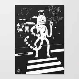 Roger the cool cat Canvas Print