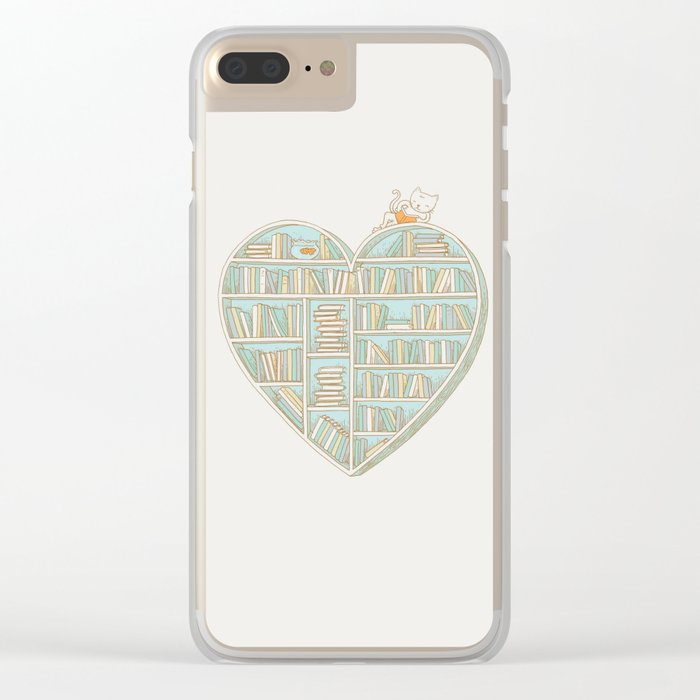 I Heart Books Clear iPhone Case