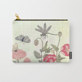 Butterfly and flowers -The Still Point Carry-All Pouch