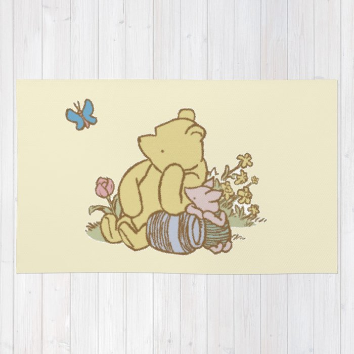 Classic Pooh Rug by kltj11 | Society6