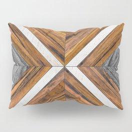 Urban Tribal Pattern No.4 - Wood Pillow Sham