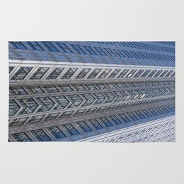 One Canada Square Abstract Rug