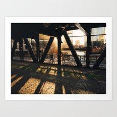 Wells Street Bridge, Chicago Art Print