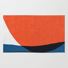 Blue and red modern art V Rug