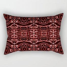 Tribal Ornate Geometric Pattern Rectangular Pillow