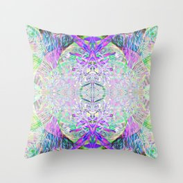 Crystal Dimension Codes Throw Pillow