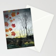 October (Falling) Stationery Cards