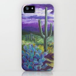 Dusk in the Desert iPhone Case