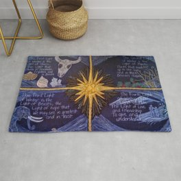 The Four Lights of Winter Rug