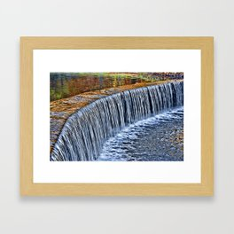 Waterfall near Flatrock Framed Art Print