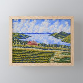 Vineyard On Canandaigua Lake Framed Mini Art Print