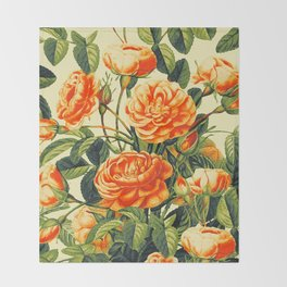 Vintage Garden 26 Throw Blanket