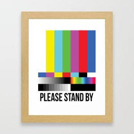 Color Bars Framed Art Print