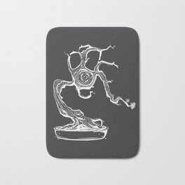 gas mask bonsai white Bath Mat