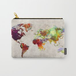 World Map 62 Carry-All Pouch