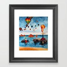 Rising Circus Framed Art Print