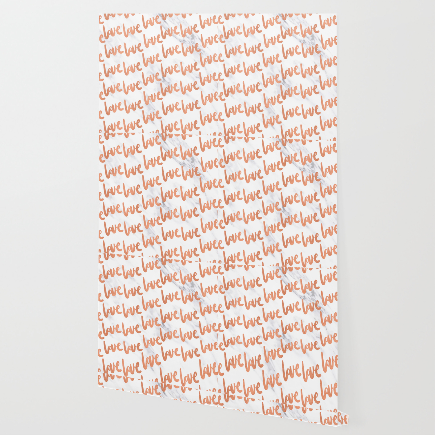 Love Rose Gold Marble Wallpaper By Naturemagick Society6