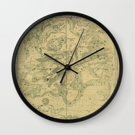 Atlas, Designed to Illustrate the Geography of the Heavens, plate IV (1850) Wall Clock