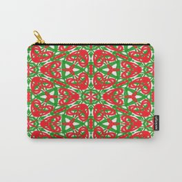 Red, Green and White Kaleidoscope 3375 Carry-All Pouch
