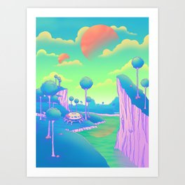Planet Namek Art Print