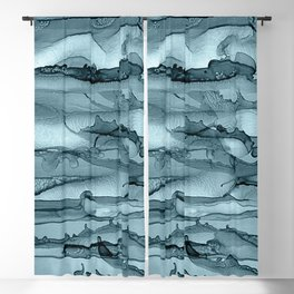 Alcohol Ink Waves Blackout Curtain