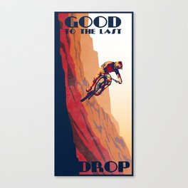 retro mountain bike poster: good to the last drop Canvas Print