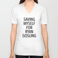ryan gosling V-neck T-shirts featuring Gosling by ClicheZero