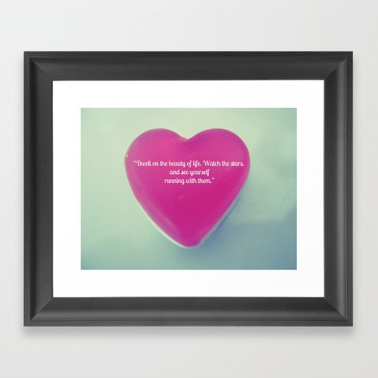 QUOTE ME Framed Art Print