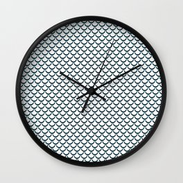 Abstract fish scale Wall Clock