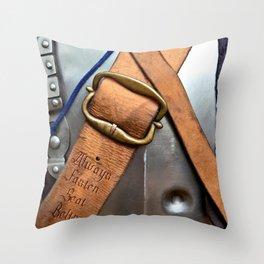 Always Fasten Seat Belts. Medieval Wisdom Throw Pillow