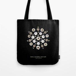 nature mandala... daisies, sand dollars, shark teeth Tote Bag