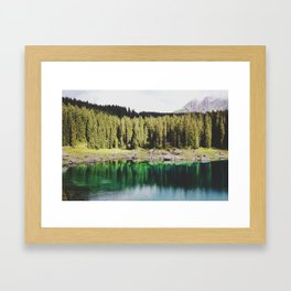 Carezza lake Framed Art Print