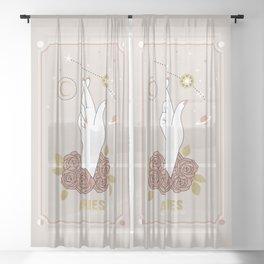 Aries Zodiac Series Sheer Curtain