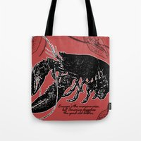 lobster Tote Bags featuring lobster by Isabella Asratyan