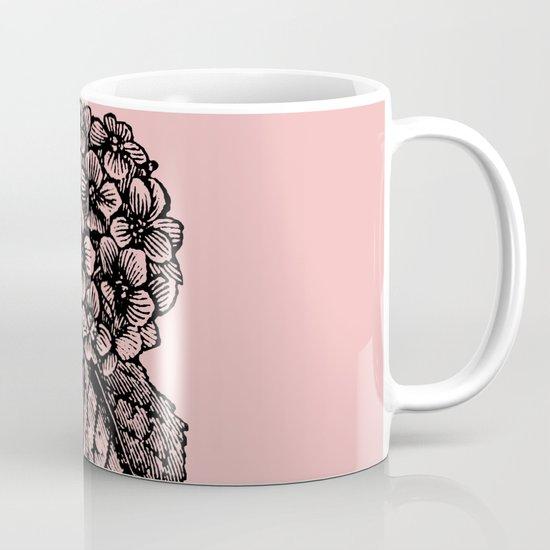 Pink Hydrangea Mug