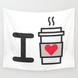 I LOVE COFFEE Wall Tapestry