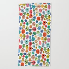 Faces Beach Towel