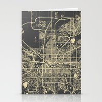 denver Stationery Cards featuring Denver map by Map Map Maps