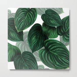 tropical green pattern Metal Print