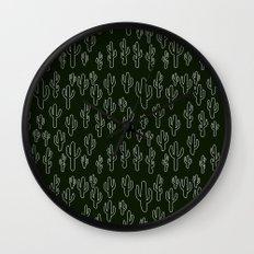 Cactus in B&W Wall Clock