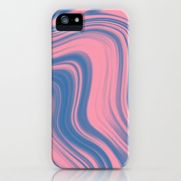 Liquid pink and blue iPhone Case