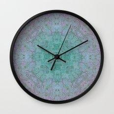 teal mirror fade Wall Clock