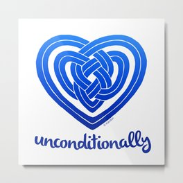 UNCONDITIONALLY in blue Metal Print