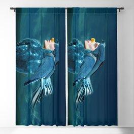 Daurian jackdaw Blackout Curtain