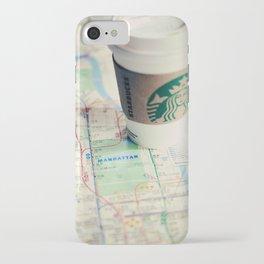 Manhattan and Starbucks iPhone Case