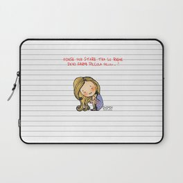 """""""Tra le righe"""" Laptop Sleeve"""