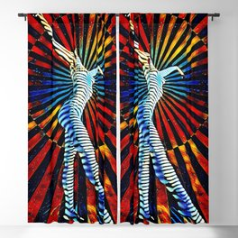 74440-MM_2352 New Op Art Nude Woman Attuning the Universe Powerful Colorful Creative Energy Blackout Curtain