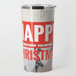 Snowfall - Happy Christmas Travel Mug