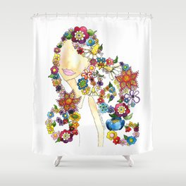 Flower Girl One Shower Curtain