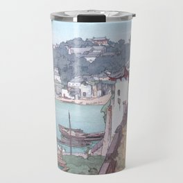 Sekishozan (Shi-chung-shan, South China) by Yoshida Hiroshi - Japanese Vintage Ukiyo-e Painting Travel Mug